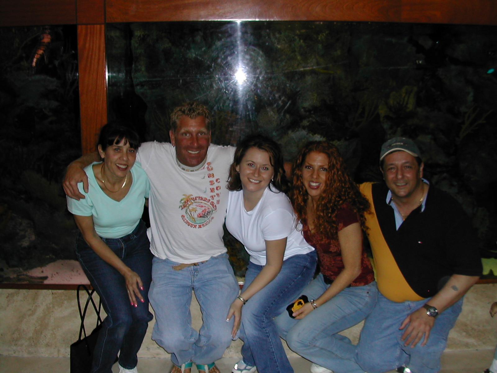 L->R Adrian,Michelle,Joe, AnnMarie and Amanda(Red), ?